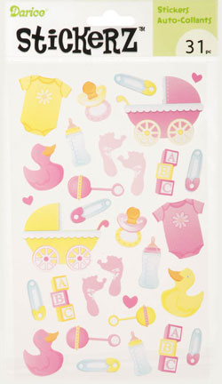 Sticker Sheet - Baby Girl / 31 pcs - Click Image to Close