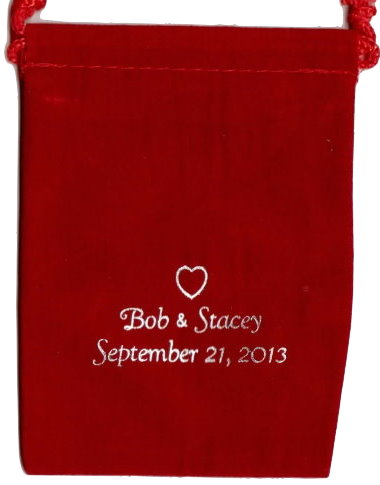 Personalized Velour Pouch - 3 x 4