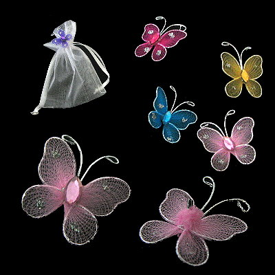 Wire Butterfly Embellishments - DZ