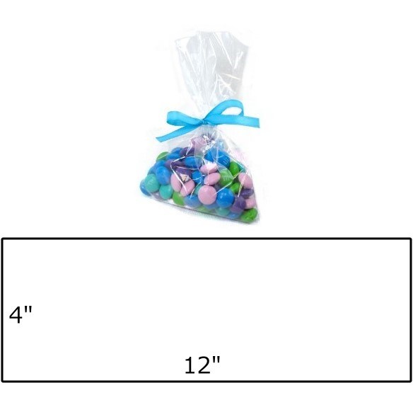 "Clear Cellophane Treat Bag - 4 x 12"" / 100 pcs"