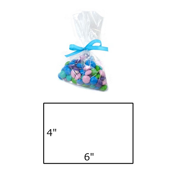 "Clear Cellophane Treat Bag - 4 x 6"" / 100 pcs"