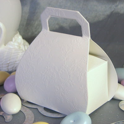 Purse Shaped Embossed Favor Box