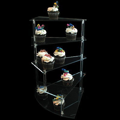 Spiral Staircase Display Stand Clear Acrylic Cupcake Spiral Stairway Display [40] 4040 19
